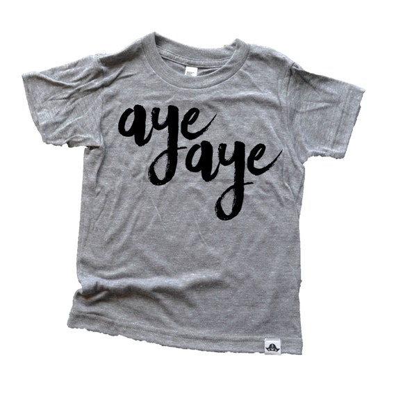 1aaf5c4f9 Aye aye gray kids tee pirate birthday shirt kids graphic tee | Etsy
