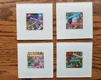 Disneyland Park Map Coasters - Set of 4