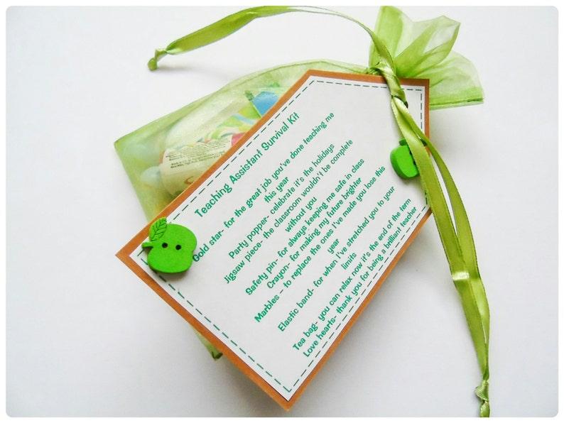Teacher Gift Survival Kit Teaching Assistant // TA Gift Thank you present
