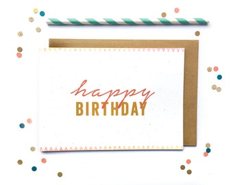 Modern/ Southwestern Design/ Generic Happy Birthday Best Friend Card