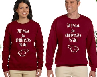All I Want For Christmas Is You Couple Sweaters For Ladies Etsy