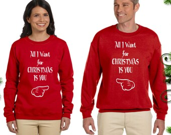 All I Want for Christmas Is You. Couple Sweaters. Unisex Size | Etsy