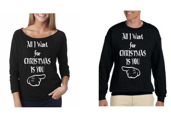 6420b7f478f All I Want for Christmas Is You Couple Sweaters for Ladies and