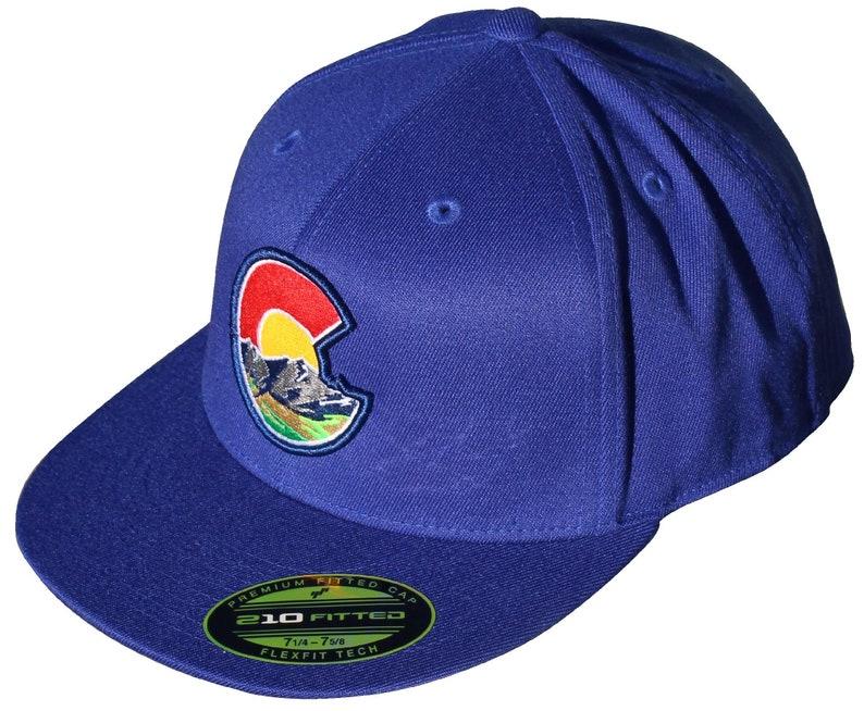 1635a391a Colorado C Nature 210 Fitted Flat Bill Hat. Flexfit Tech. Colorado Cap