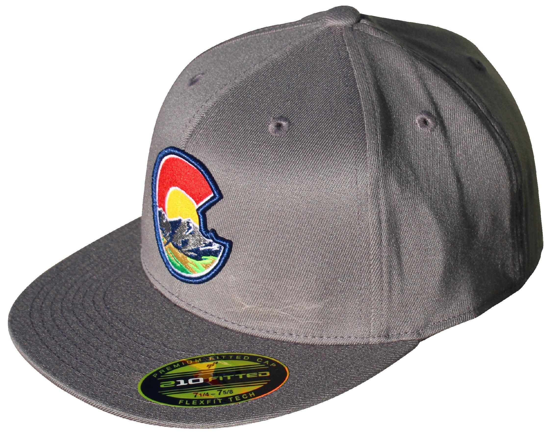 ed436bd4efa12f Colorado C Nature 210 Fitted Flat Bill Hat. Flexfit Tech. | Etsy