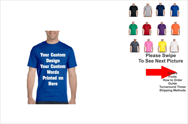 Custom T Shirt Custom Printed T Shirt Personalized Tshirt Etsy
