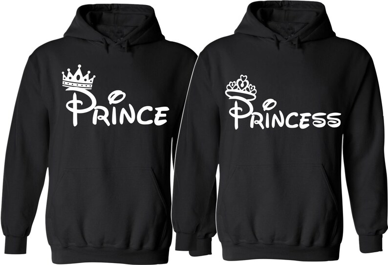 a69e494b7dd Prince and Princess. Couple Hoodies. For Her and For Him. So