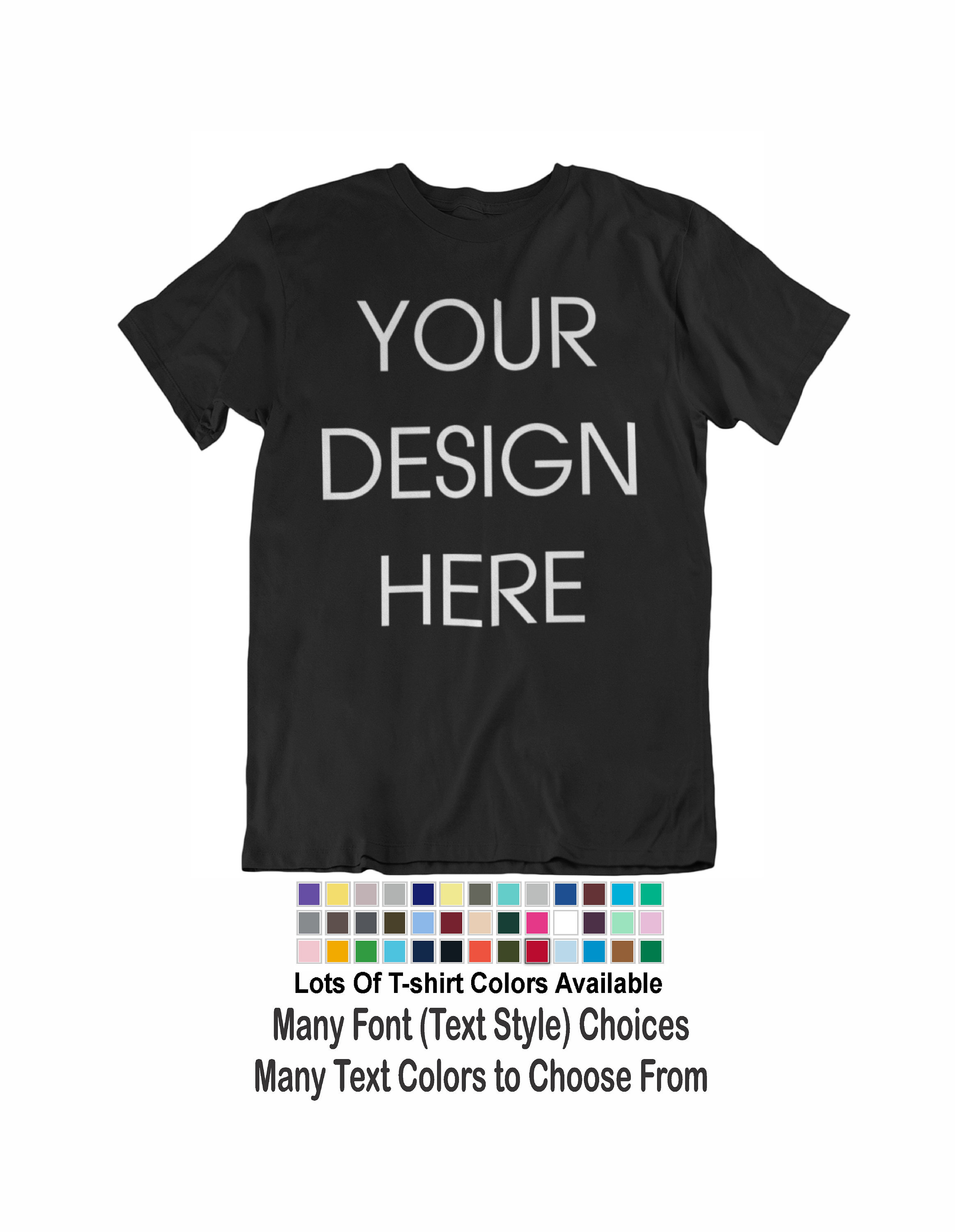 Custom T-shirt Add Your Own Design Text Word Logo Image Picture Unisex Men Tee Unisex Tshirt