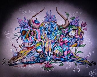 Existential Synchronicity - Original Artwork Print