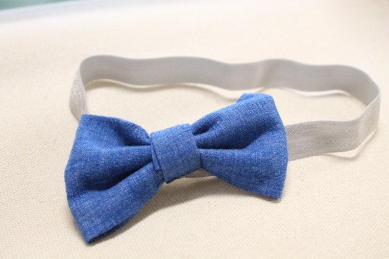 Elastic Headband with Interchangeable Snap-on Bow Baby image 0