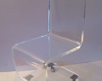 Amazing Suspended Lucite Acrylic Wall Mount Shelf 70S Etsy Machost Co Dining Chair Design Ideas Machostcouk