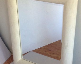 012ff6f2f13e8 Large Mid Century Modern Tessellated Bone Rectangular Mirror 70 s