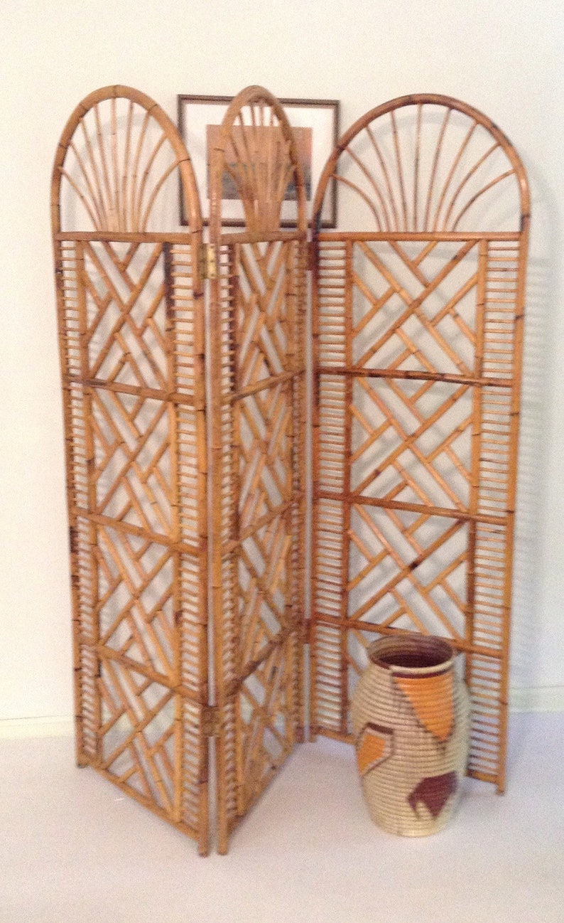Wondrous 1970S Chinese Chippendale Bamboo Folding Room Divider Interior Design Ideas Tzicisoteloinfo
