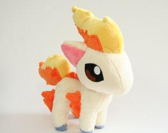 Pokemon Plush Ponyta Fan-made - Made-to-Order