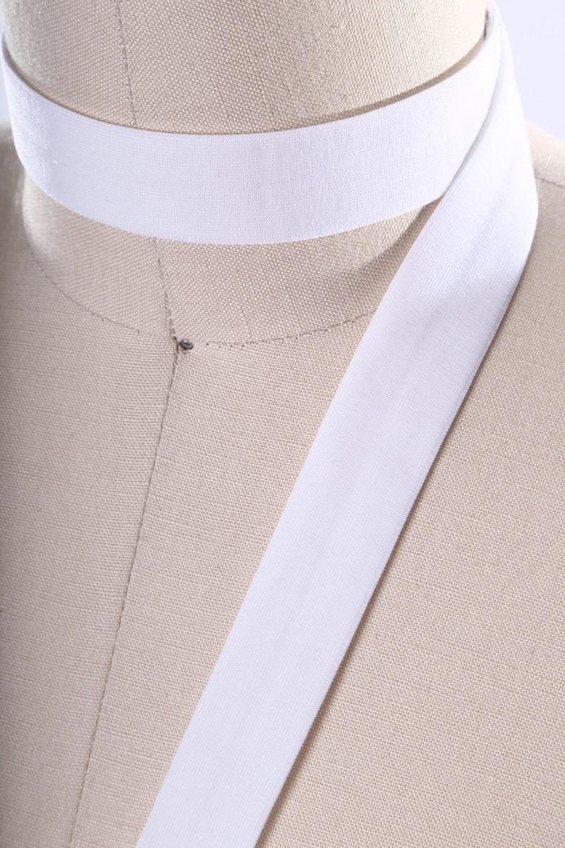 3 Yards White Fold Over Elastic Elastic Bias 58 White elastic Soft Elastic For Face Masks Hair Accessories