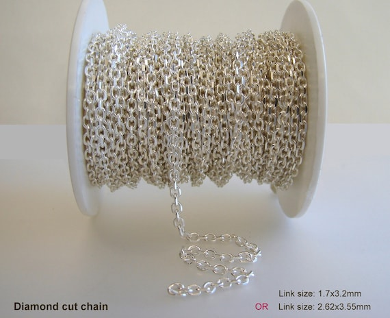 Sterling Silver 3mm Half Round Wire Curb Chain