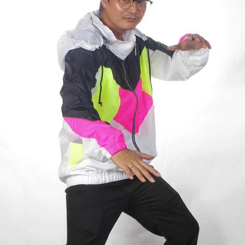 "<Span Data Inner Title="""">Black&White Neon Color Hideable Hood Windbreaker Jacket Waterproof.</Span> by Etsy"