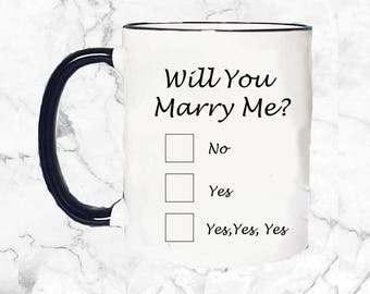 Marry me mug | Etsy