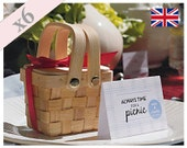 Miniature Picnic Basket Party Favour Table Gift Pack Of 6