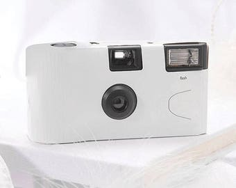 White Disposable Camera- Wedding Favour - Pack of 10 - 16 Exposure