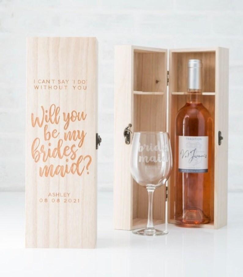Trauzeugin Geschenk Wein personalisiert