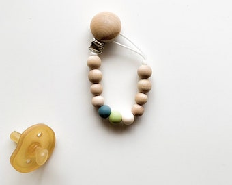 AUTUMN COLLECTION - Silicone colors: charcoal gray / olive green / ivory - (pacifiers not included)