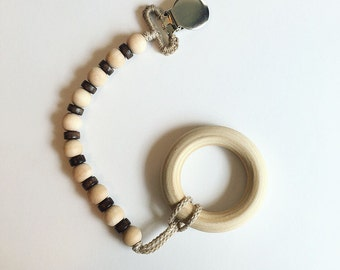 NomiLu Finn Clip -- Dual Toned Clip (Ring & Pacifier not included)