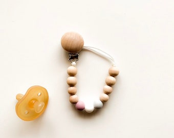 AUTUMN COLLECTION - Silicone colors: lavender / white / dove gray - (pacifiers not included)