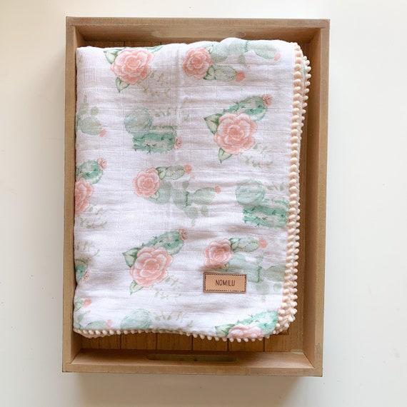 Blooming Cactus Oversized Gauze Blanket