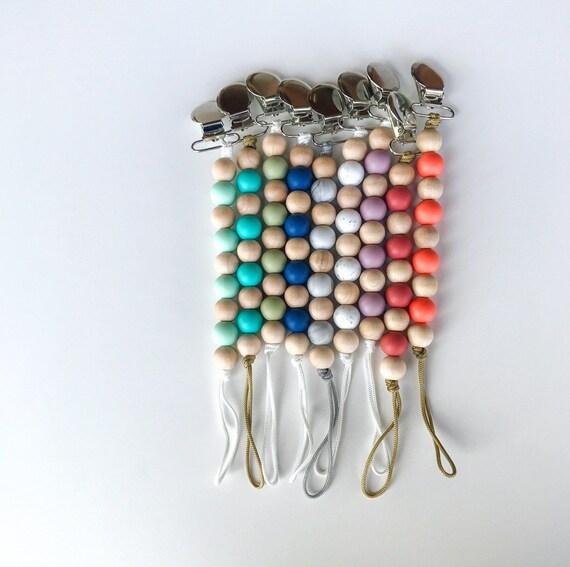 Pebbles Clip - NomiLu SILICONE Clip - Spring into Color