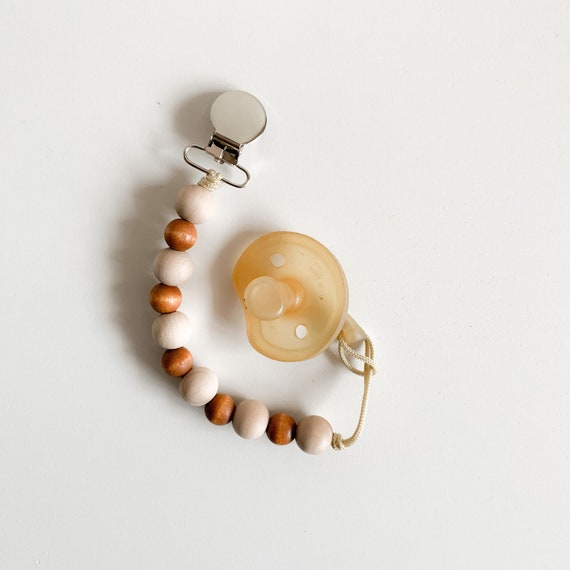 Caterpillar Classic --  NomiLu Stained Beaded Pacifier Clip (Pacifier NOT Included)