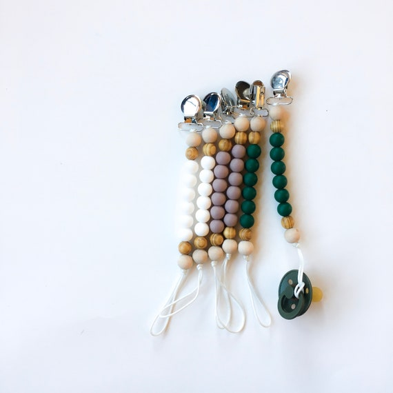 NEW SPRING LINE - Silicone Pacifier Clip (pacifier Not included)