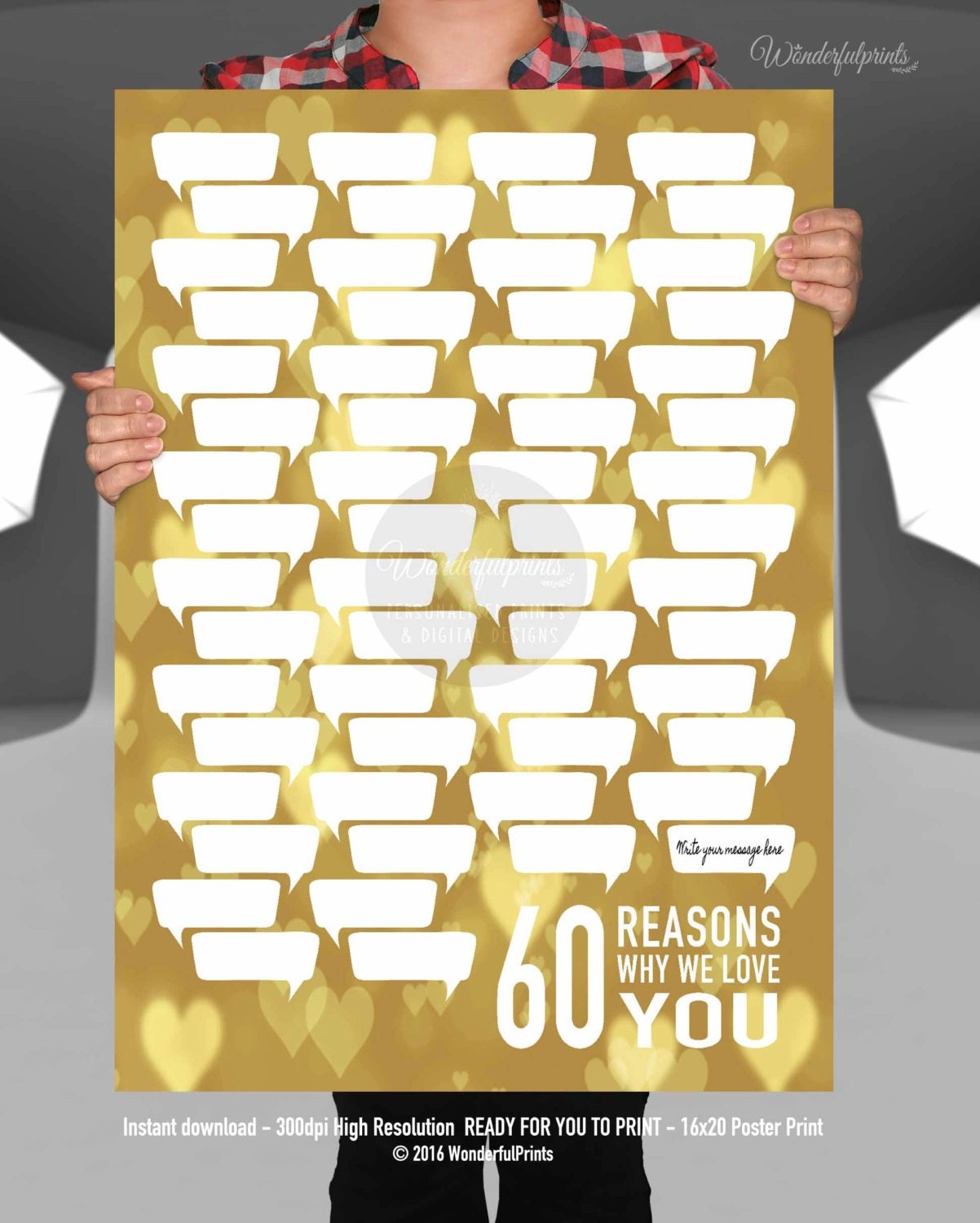 60th Birthday Gift For Mom 60 Reasons Why We Love YOU