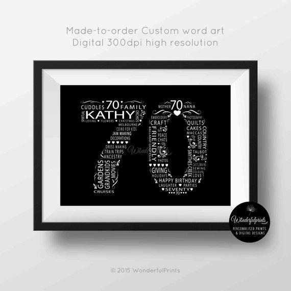 70th Birthday Gift For Women Her Mom