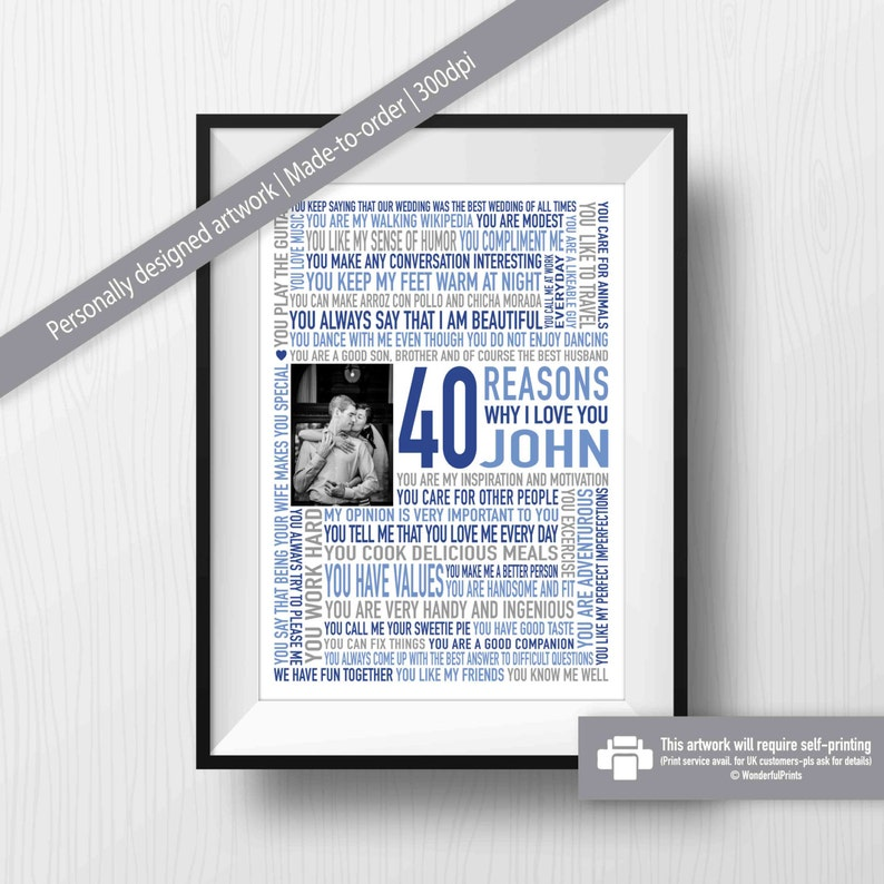 40th Birthday Gift For HIM Husband Him Image 0