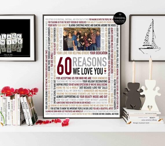 Custom 60th Birthday Gift For Mom Women