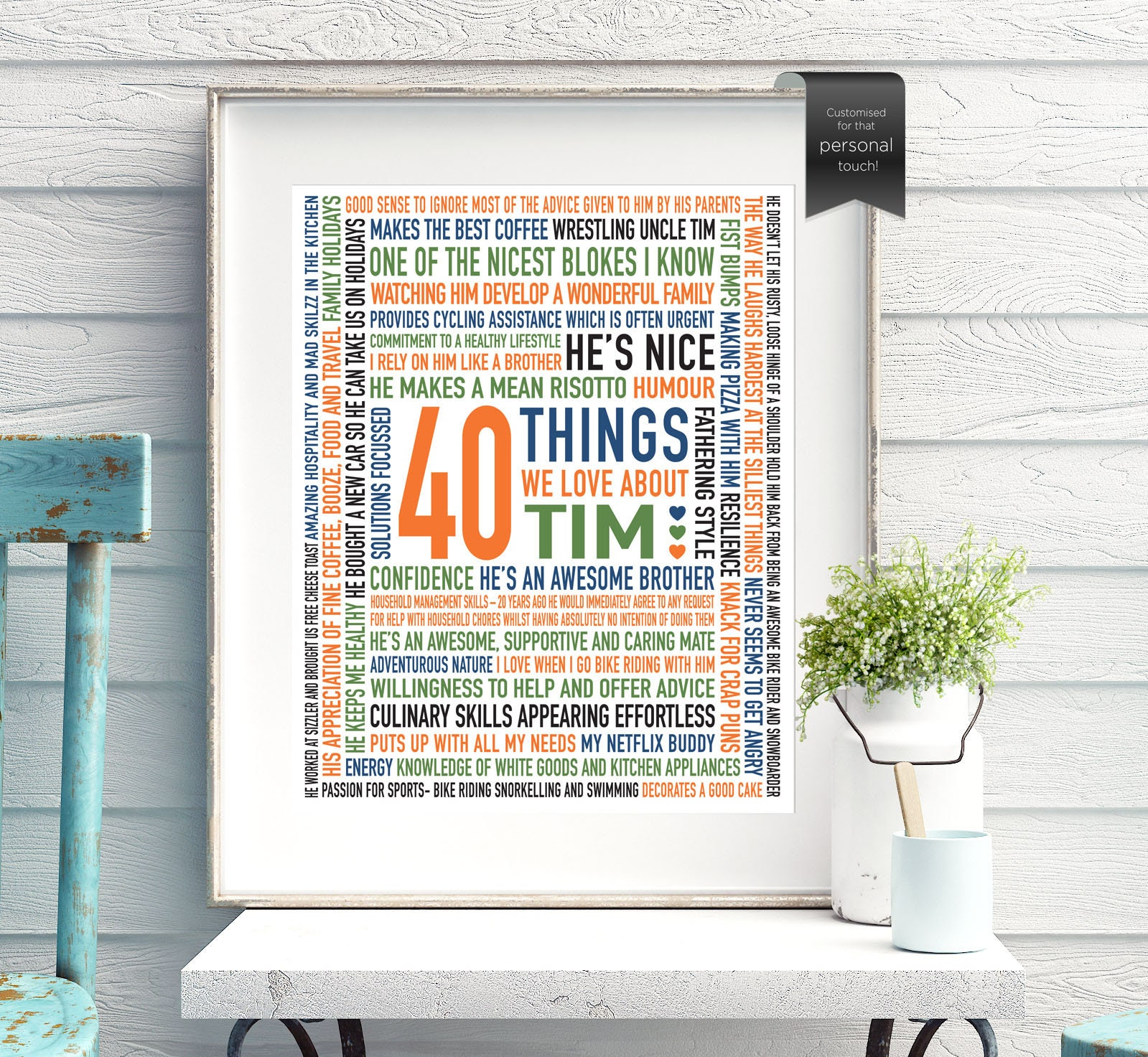 40th Birthday Gift For Him For Son For Husband For Brother Etsy