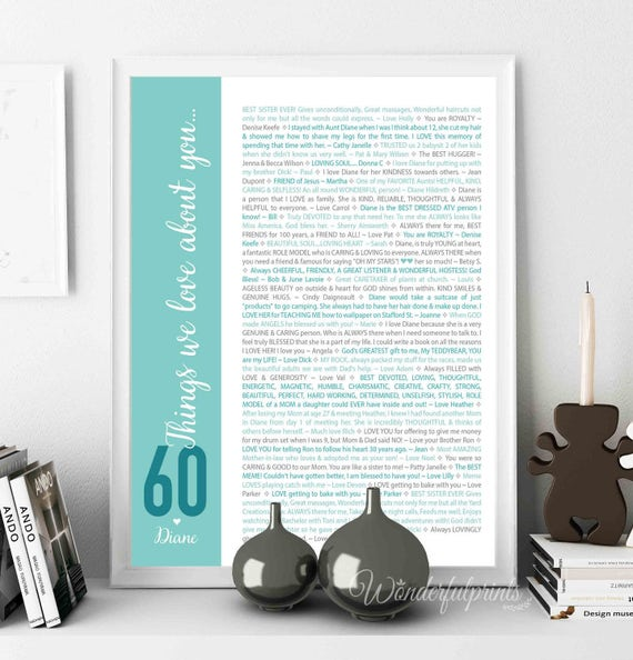 60th Birthday Gift For Mom Women 60 Things We