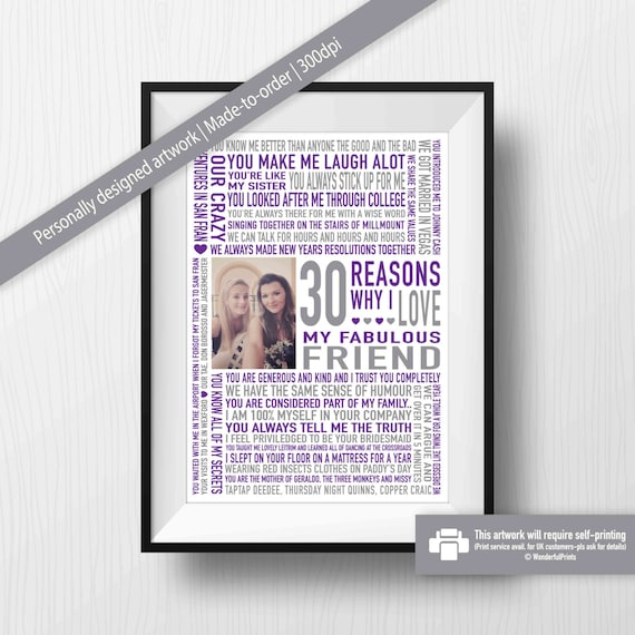 BFF 30th Birthday Gift Best Friend Digital