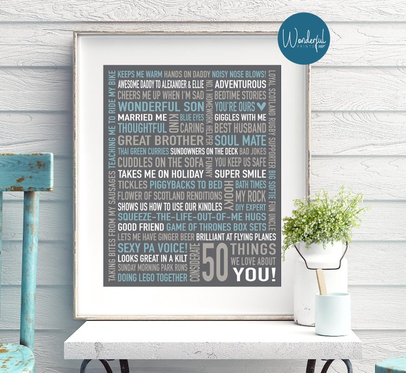 50th Birthday Gift For HUSBAND Gifts Dad Him MEN DIG