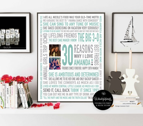 Best Friend Personalised Friendship Gifts 30 Reasons We Love
