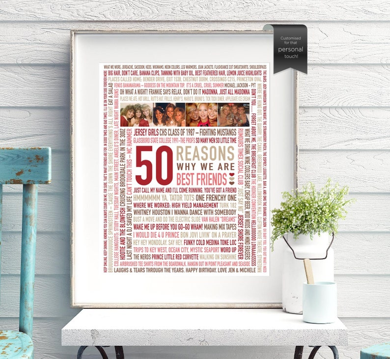 50th Birthday Gift for Best Friend, Fifty, Fiftieth, 50 MEMORIES, Gifts For  Her, Gifts For Women, DIGITAL File, 50 Reasons We Love You