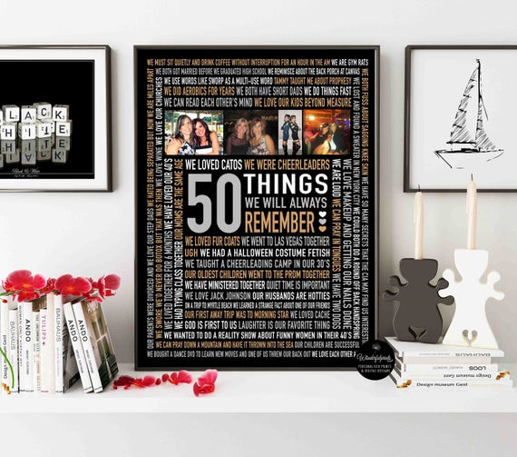 50th Birthday Gift For Best Friend Fifty Fiftieth 50