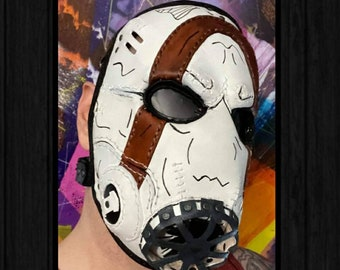 Leather Pyscho Mask Borderlands Cosplay Costume Video Game Full Face Mask