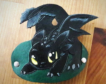 Leather Toothless Hair Barrette