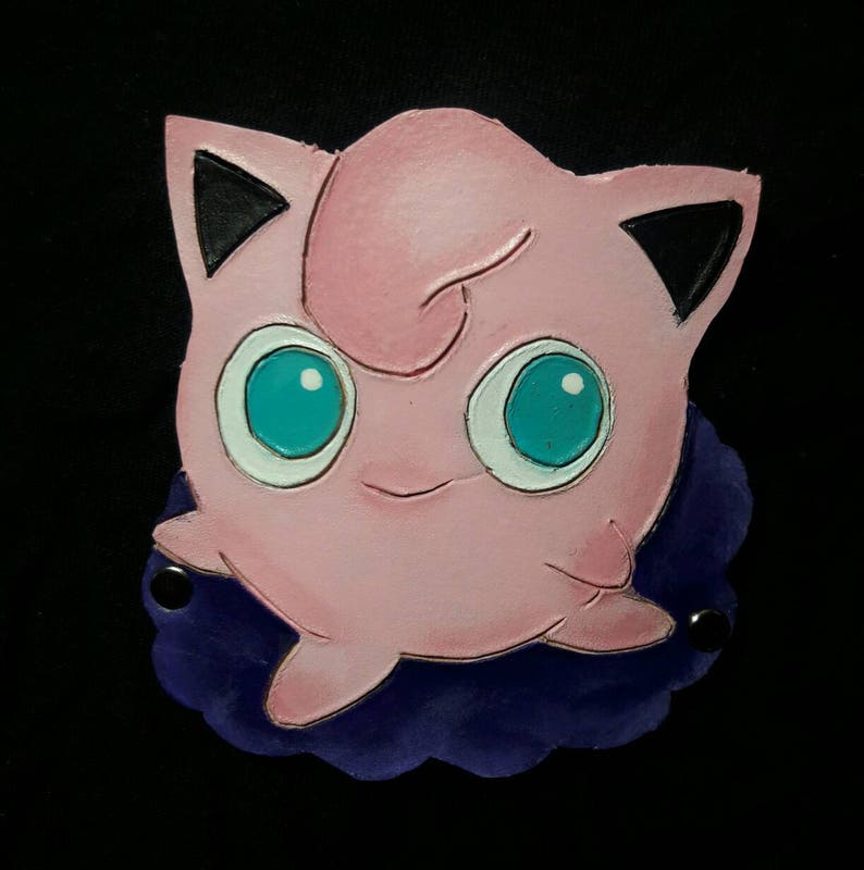 Jigglypuff Pokemon Leather Hair Barrette