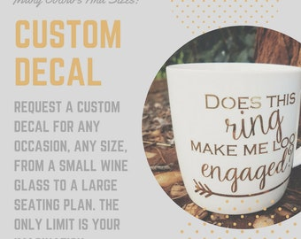 Custom Decal for Indoor or Outdoor use.