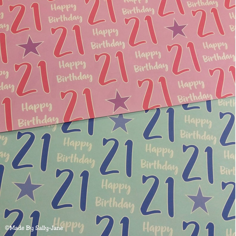 21st Birthday Gift Wrap Wrapping Paper