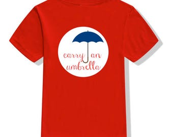 SHIPPING: Amazing Grace Carry an Umbrella Shirt for Swim Across America