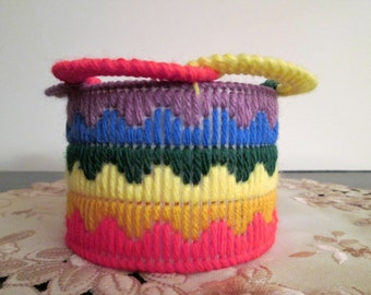 Colorful Round Basket